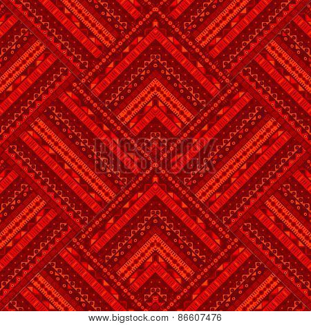 Red Ethnic Geometrical Background