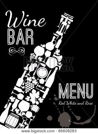 Wine menu card