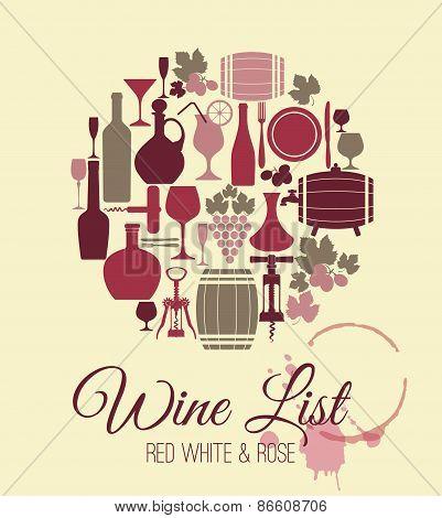 Wine menu card.