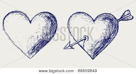 Heart symbol with arrow