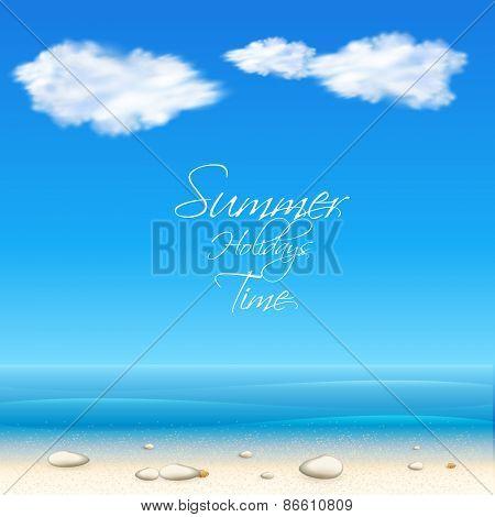 summer cover, easy editable