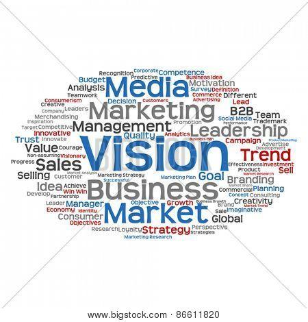 Vector concept or conceptual abstract business success word clou