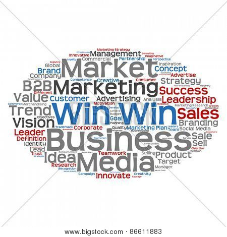 Vector concept or conceptual abstract business success word clouud