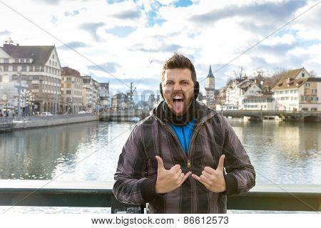 Tourist in Zurich, Switzerland