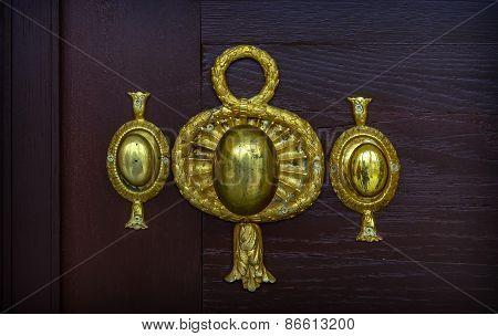 Old Decorative Golden Door Knob