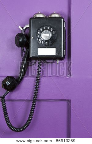 Vintage black German phone