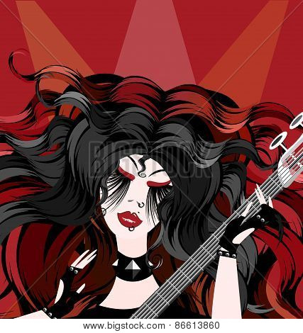 rock red girl