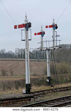 Railway Train Signals.