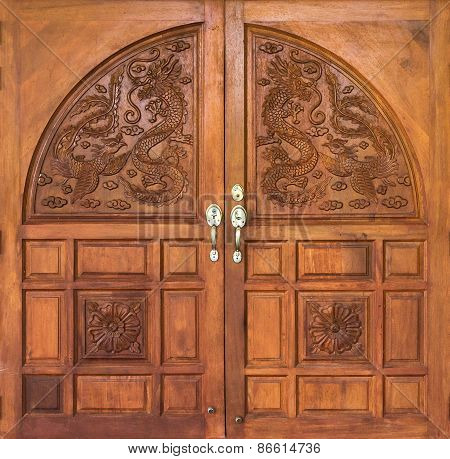 Dragon Carving Door