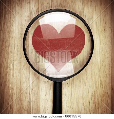 Heart Shape In The Magnifying Glass