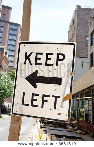 Road Sign Keep Left