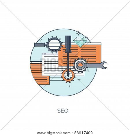 Stopwatch flat icon. World time concept. Business background. Internet marketing. Daily infographic.