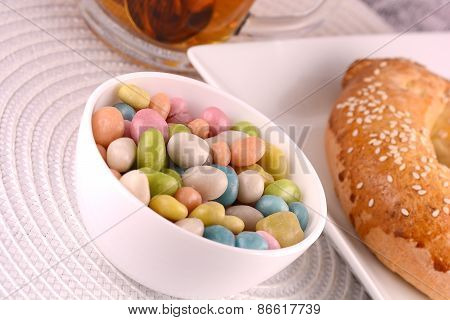 Candies And Sweet Cake