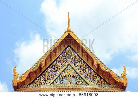 Gable Apex Of The Church In Bangkok