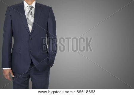 suited afro-american businessman