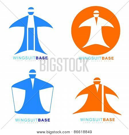 Wingsuit Extreme Sport Base Jumping Icon