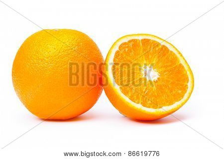 mandarin on white background
