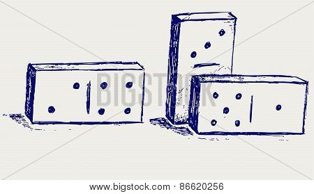 Figures for the game of dominoes