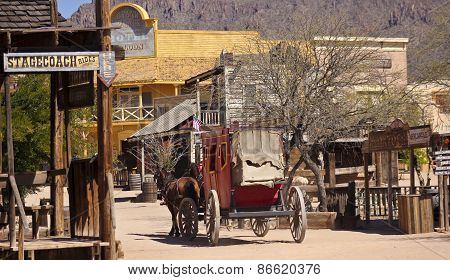 A Scene In Old Tucson, Tucson, Arizona