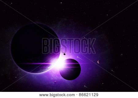 Deep Space Eclipse Background