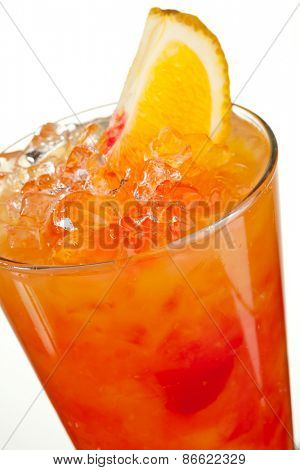 Fruits Cocktail with Orange, Pineapple, Grapefruit and Grenadine