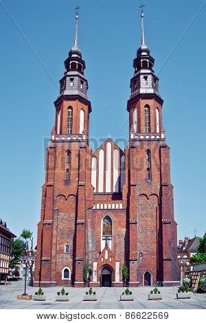 Opole, Poland - City Architecture. Famous Church.