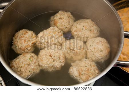 Dumplings In A Boiling Pot