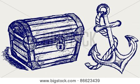 Chest sketch and anchor