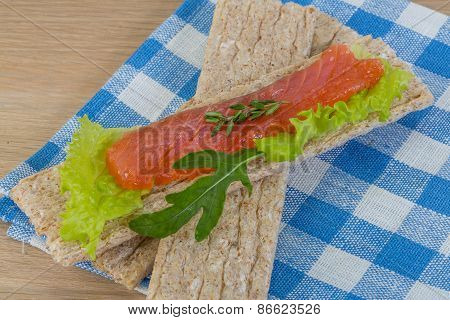 Crispbread With Salmon