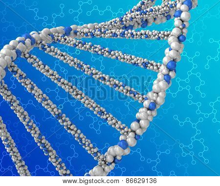 double helix structure DNA on abstract background