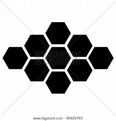 vector black hexagon icon on white background. eps 10