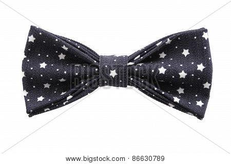 Ow Tie Closeup On White Background