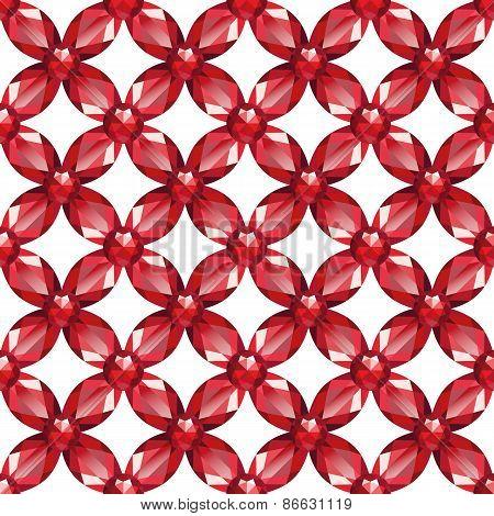 Flower Mesh Rubies Seamless Texture Vector