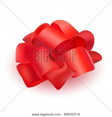 vector ribbon bow for present isolated