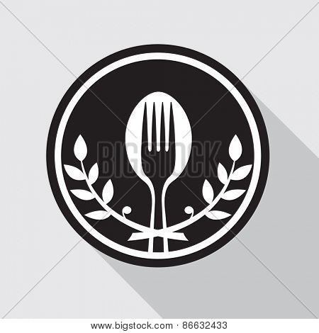 restaurant menu design with spoon and fork