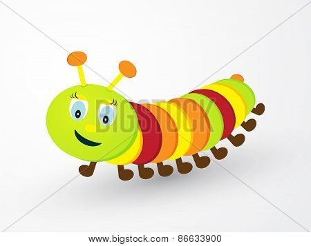 Children Cheerfully Colored Caterpillar