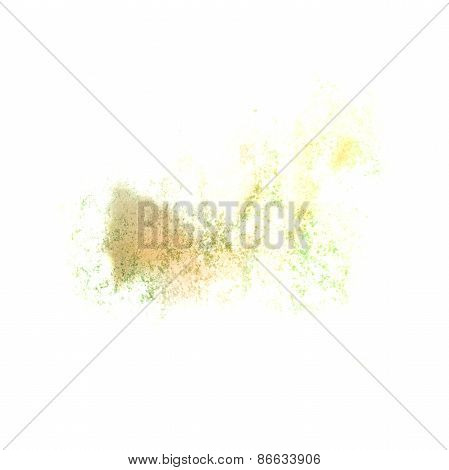 Abstract watercolor lettuce yellow background for your design in