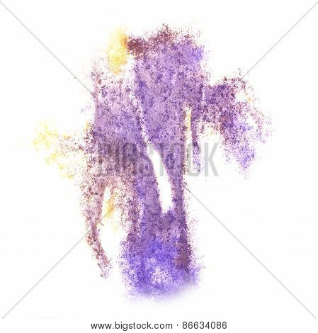 Abstract watercolor lilac, yellow background for your design ins