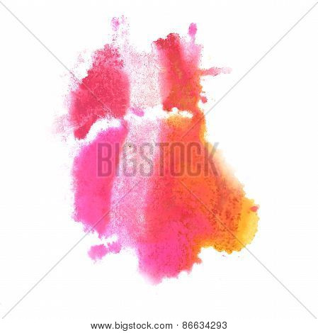 Abstract watercolor pink, yellow background for your design insu