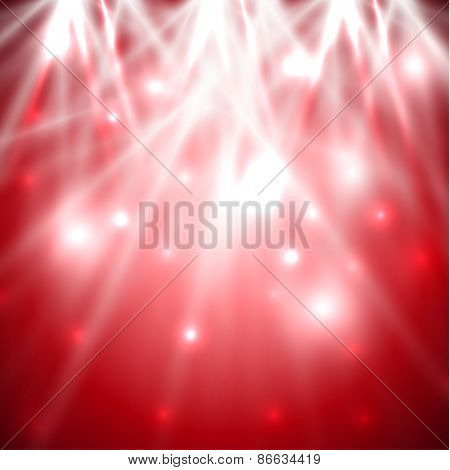 Red background with spotlights - raster version