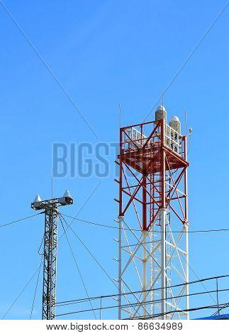 Antenna Facility On The Mast