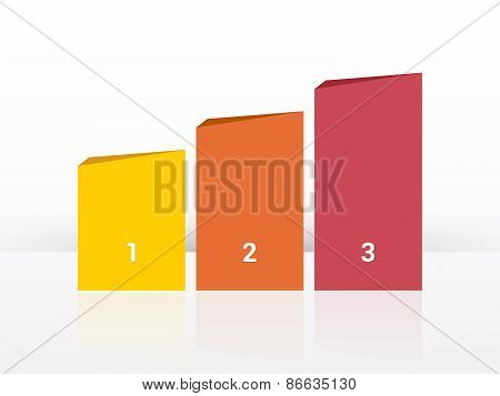 Simplier Three-column Chart In Pastel Colors