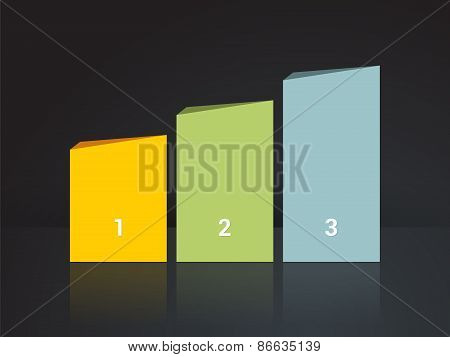 Simplier Three-column Chart In Pastel Colors On A Dark Background