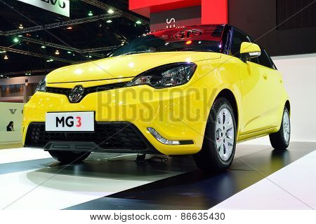 Bangkok - March 26 : Mg 3 Hatchback Car With 1500 Cc Vti Engine On Display At 36Th Bangkok Internati