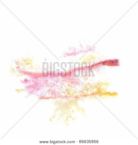 Abstract  pink,yellow watercolor background for your design insu