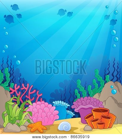 Ocean underwater theme background 4 - eps10 vector illustration.