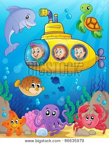 Submarine theme image 4 - eps10 vector illustration.