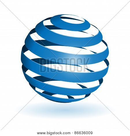 Glossy spheres isolated. Vector illustration