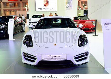 Bangkok - March 26 : New Porsche Cayman, Sport Car, On Display At 36Th Bangkok International Motor S