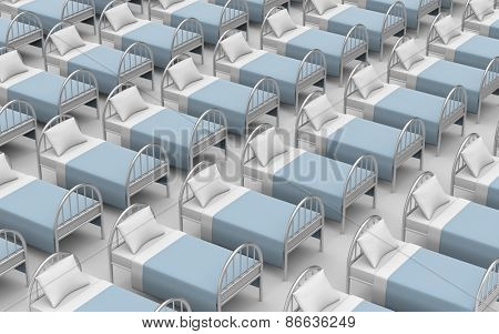 Large number of beds